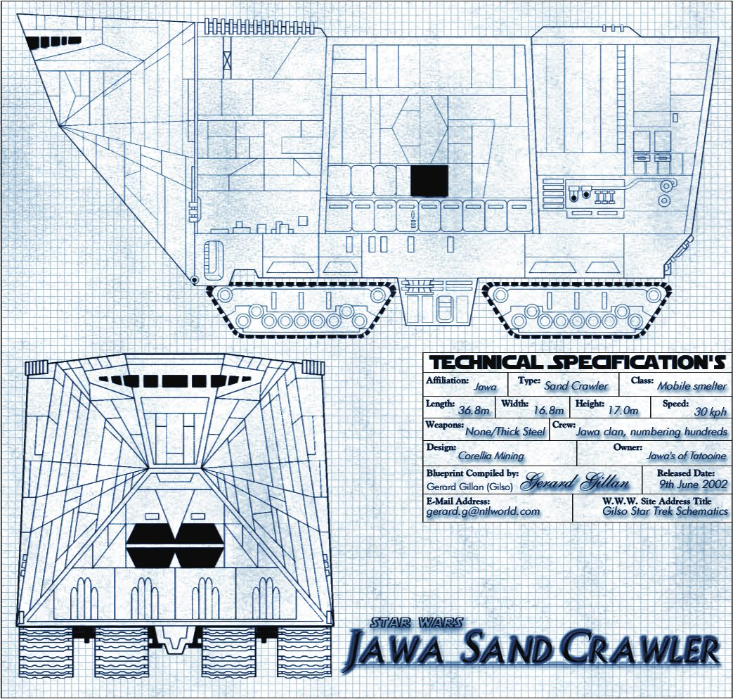 Star Wars Sandcrawler Schematics Car Wiring Diagrams Explained Jawa Diagram Blueprints Of Ships And Vessels From The Franchise Page 2 Rh Daftworks Co Uk Without Hood 2018 Lego