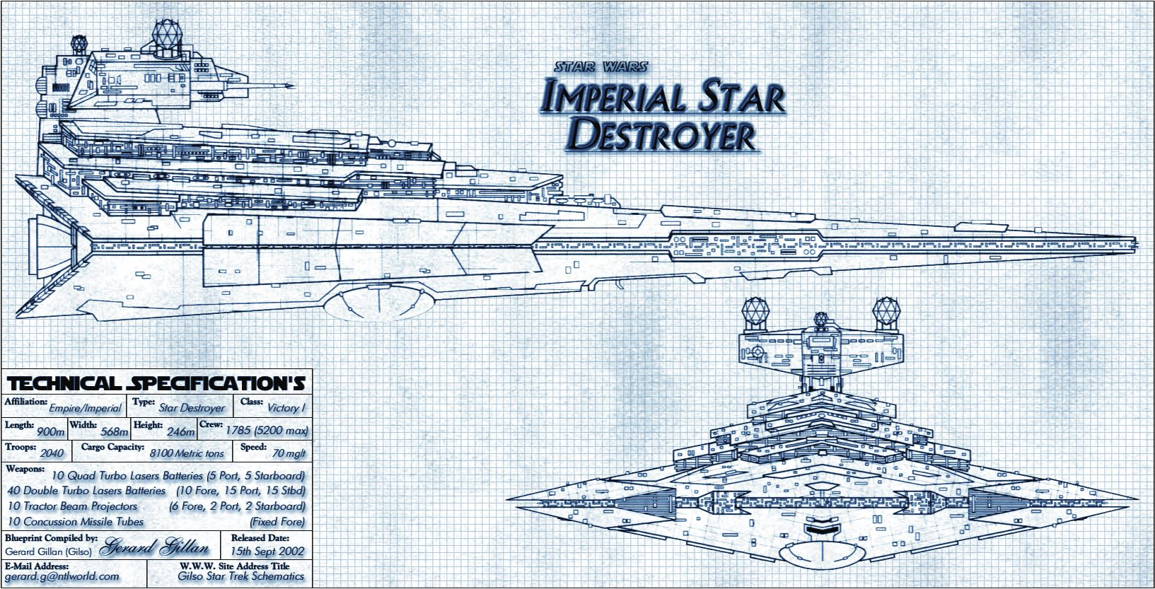 Imperial Star Destroyer Blueprint